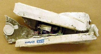 Airphone from Flight 93 wreckage.